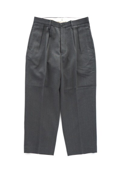 Phlannel Cavalry Twill Cropped Wide Trousers (Gray)