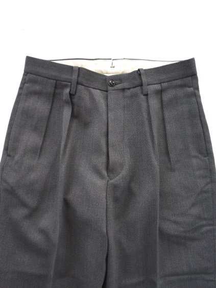 Phlannel Cavalry Twill Cropped Wide Trousers (Gray)2