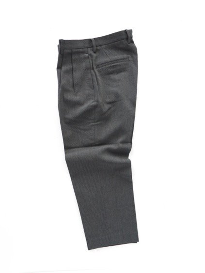 Phlannel Cavalry Twill Cropped Wide Trousers (Gray)3