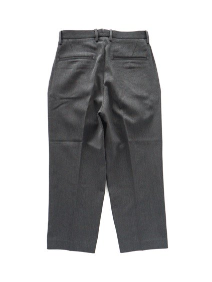 Phlannel Cavalry Twill Cropped Wide Trousers (Gray)4