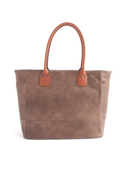 LEATHER&SILVER MOTO BAG19 GOAT LEATHER TOTE BAG (KHAKI)1