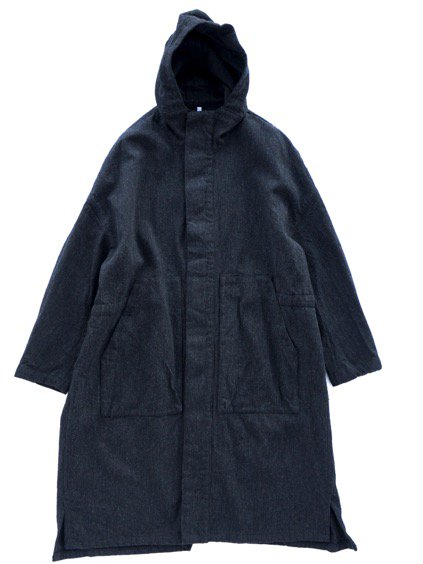 FIRMUM WOOL COTTON MILITARY SERGE COAT (BLACK MIX)