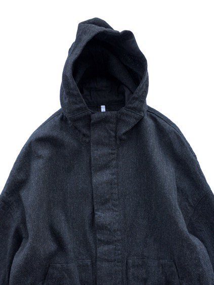 FIRMUM WOOL COTTON MILITARY SERGE COAT (BLACK MIX)2