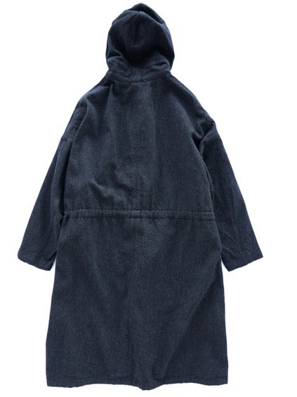 FIRMUM WOOL COTTON MILITARY SERGE COAT (BLACK MIX)4