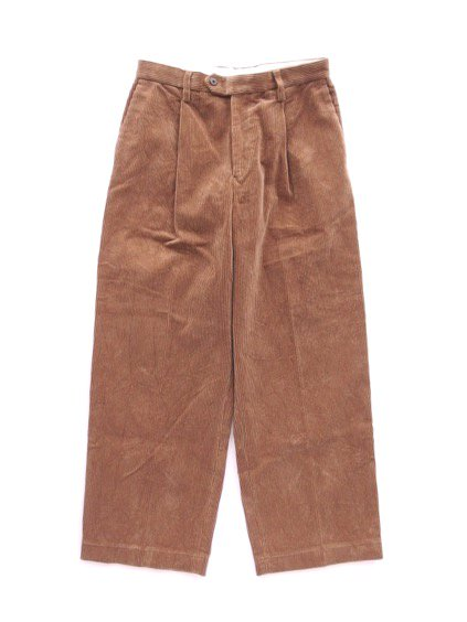 Phlannel Cotton Corduroy Wide Trousers (Camel)