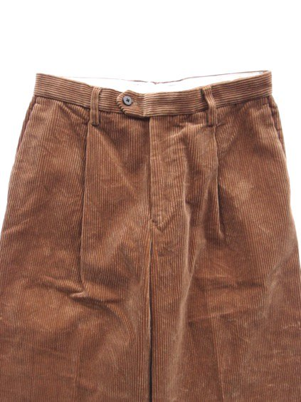 Phlannel Cotton Corduroy Wide Trousers (Camel)2