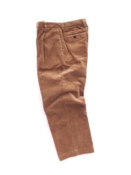 Phlannel Cotton Corduroy Wide Trousers (Camel)3