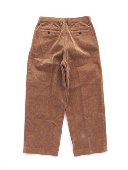 Phlannel Cotton Corduroy Wide Trousers (Camel)4