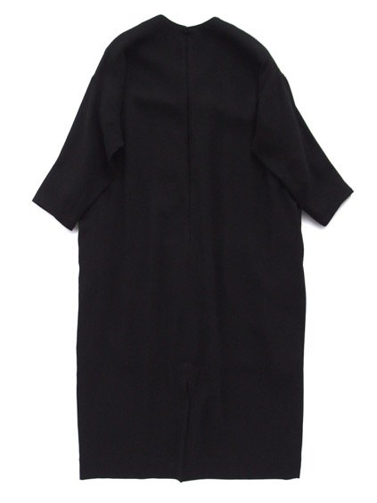NO CONTROL AIR ACETATE POLYESTER DOUBLE CLOTH ONE PIECE -LONG TYPE - (BLACK)3