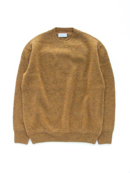 Phlannel Shetland Wool Crewneck Sweater  (Golden Yellow)1