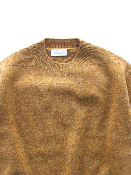 Phlannel Shetland Wool Crewneck Sweater  (Golden Yellow)2