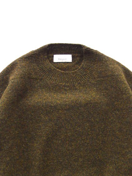 Phlannel Shetland Wool Crewneck Sweater  (Khaki)2