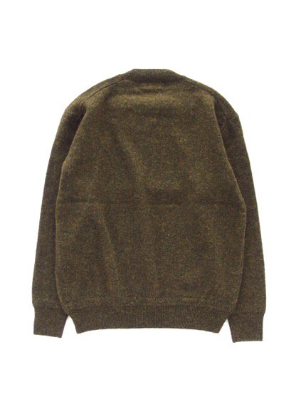 Phlannel Shetland Wool Crewneck Sweater  (Khaki)4
