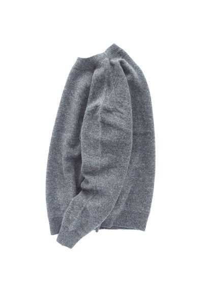 Phlannel Shetland Wool Crewneck Sweater  (Charcoal)3