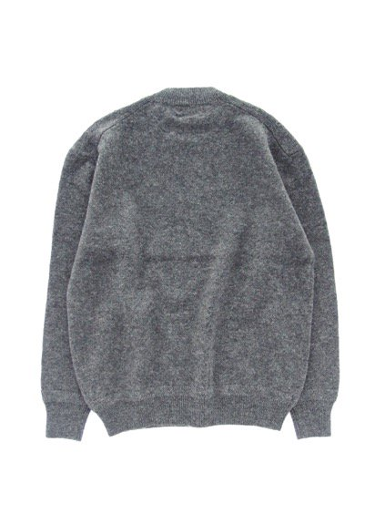 Phlannel Shetland Wool Crewneck Sweater  (Charcoal)4