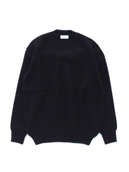 Phlannel Shetland Wool Crewneck Sweater  (Black)