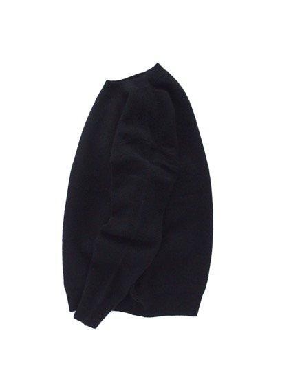 Phlannel Shetland Wool Crewneck Sweater  (Black)3