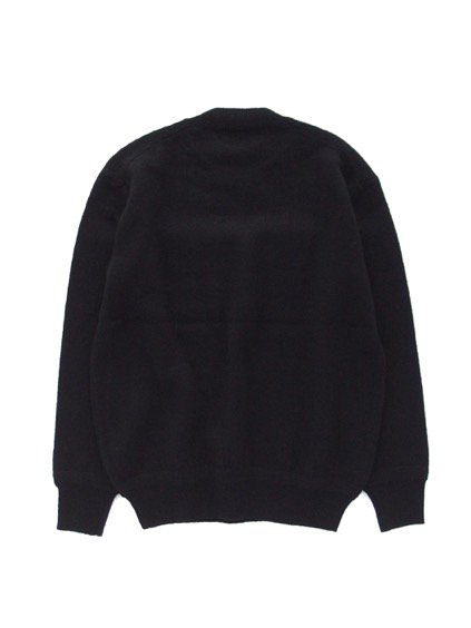 Phlannel Shetland Wool Crewneck Sweater  (Black)4