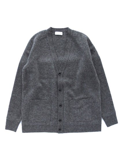 Phlannel Shetland Wool V-neck Cardigan  (Charcoal)