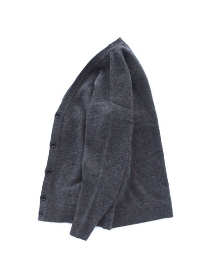 Phlannel Shetland Wool V-neck Cardigan  (Charcoal)3
