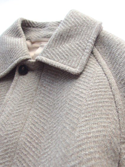 Phlannel Mix Tweed Balmacaan Coat  (Beige)2