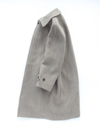 Phlannel Mix Tweed Balmacaan Coat  (Beige)3