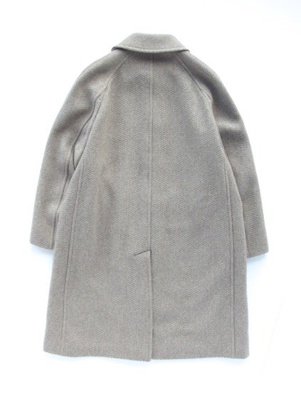 Phlannel Mix Tweed Balmacaan Coat  (Beige)4