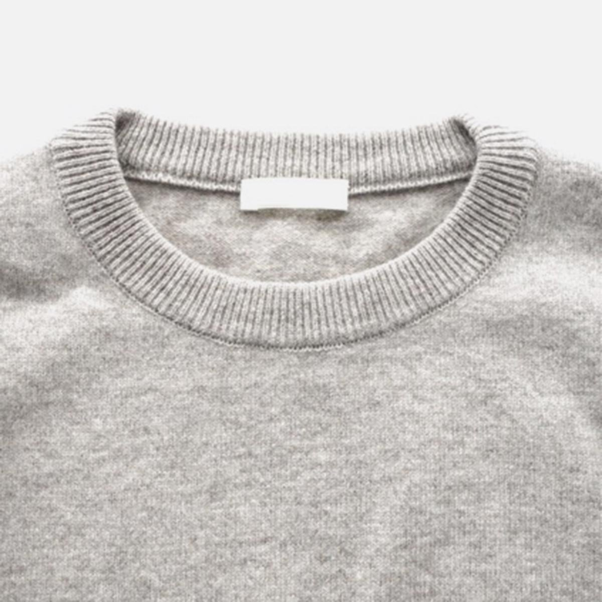 niuhans  Black Merino Wool Elbow Patch Sweater (Light Brown)4