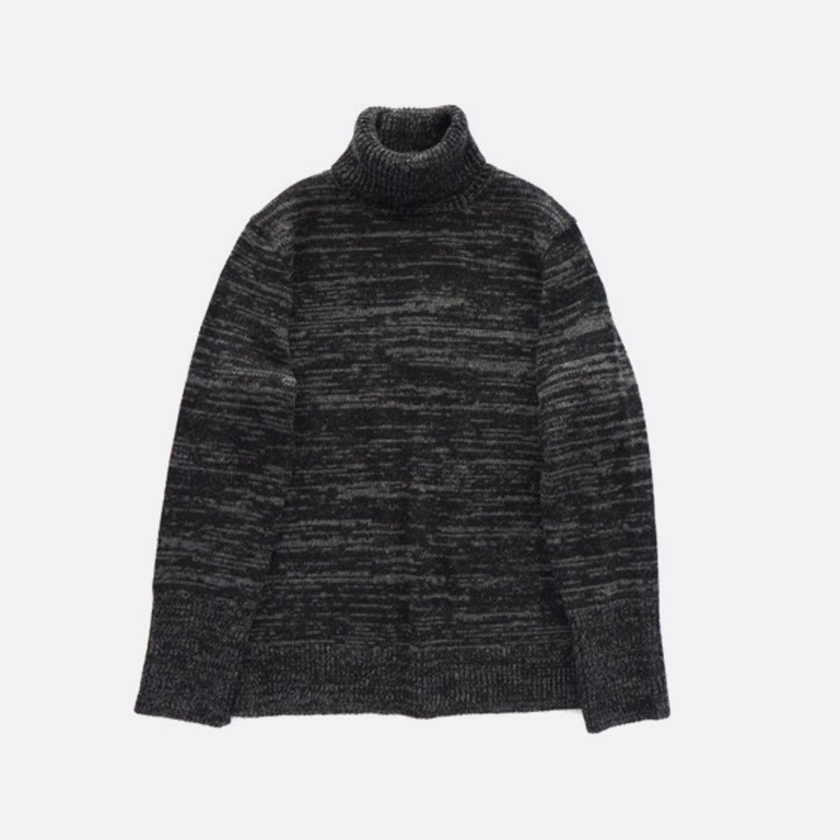 THE INOUE BROTHERS…  Low Gauge Turtle Neck Sweater (Grey)