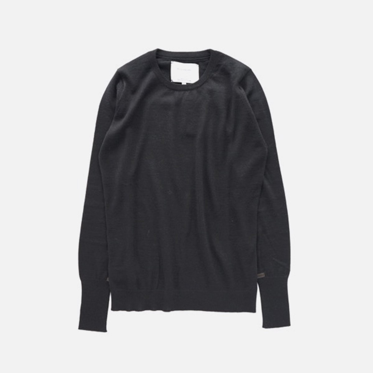 THE INOUE BROTHERS…  High Gauge Crew Neck Pullover (Black)