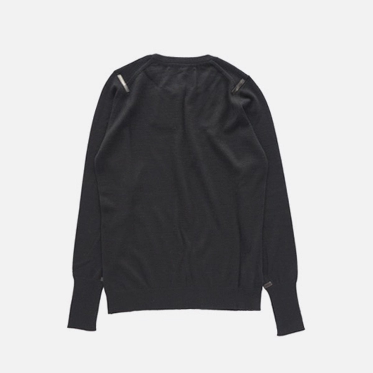 THE INOUE BROTHERS…  High Gauge Crew Neck Pullover (Black)2