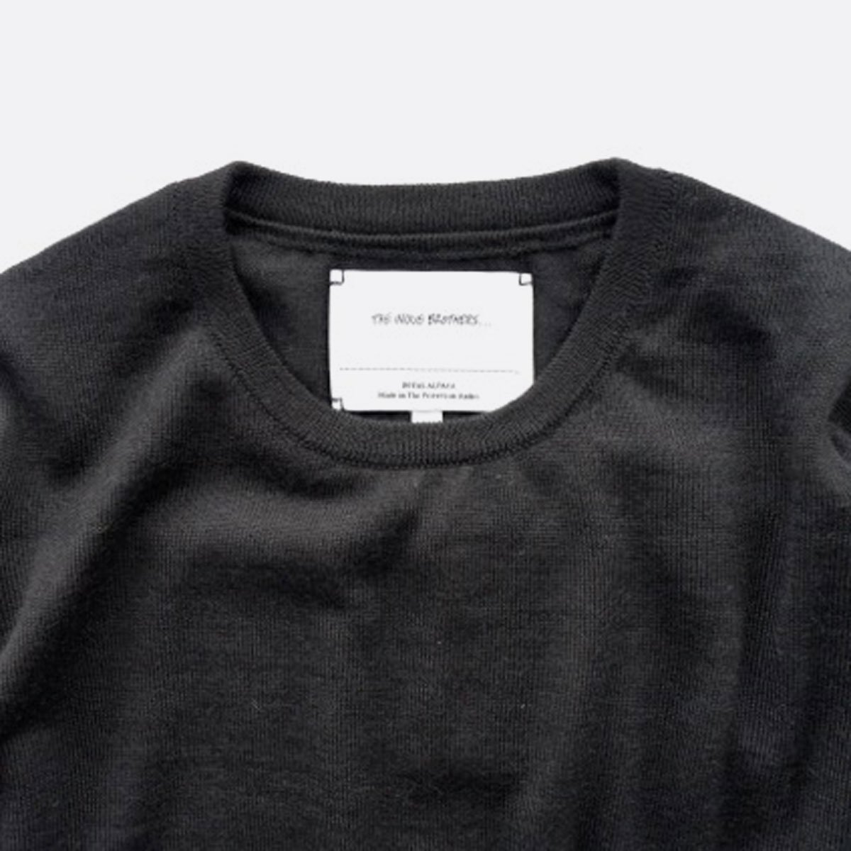 THE INOUE BROTHERS…  High Gauge Crew Neck Pullover (Black)4