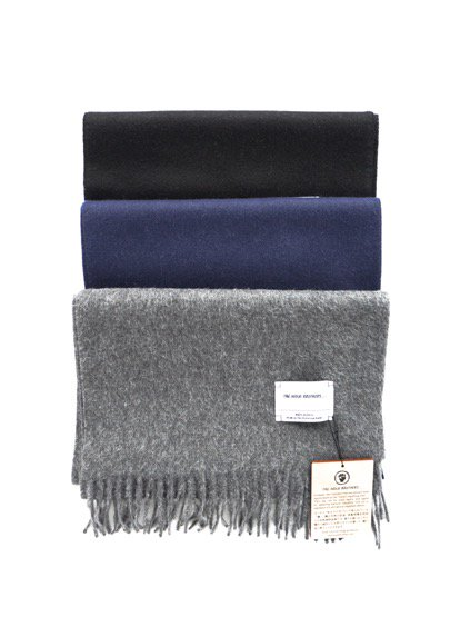 THE INOUE BROTHERS…  Woven Brushed Scarf (Grey)