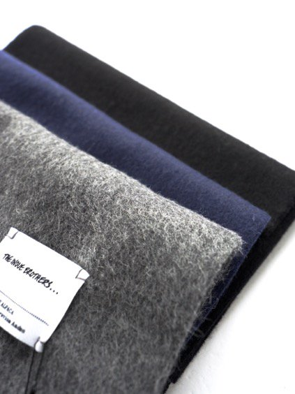 THE INOUE BROTHERS…  Woven Brushed Scarf (Grey)2