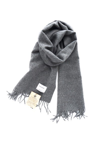 THE INOUE BROTHERS…  Woven Brushed Scarf (Grey)3