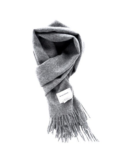 THE INOUE BROTHERS…  Woven Brushed Scarf (Grey)4