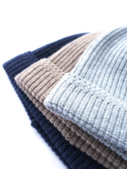 niuhans  New Zealand Merino Wool Low Gauge Knit Cap (Light Grey)(Light Brown) (Navy)3