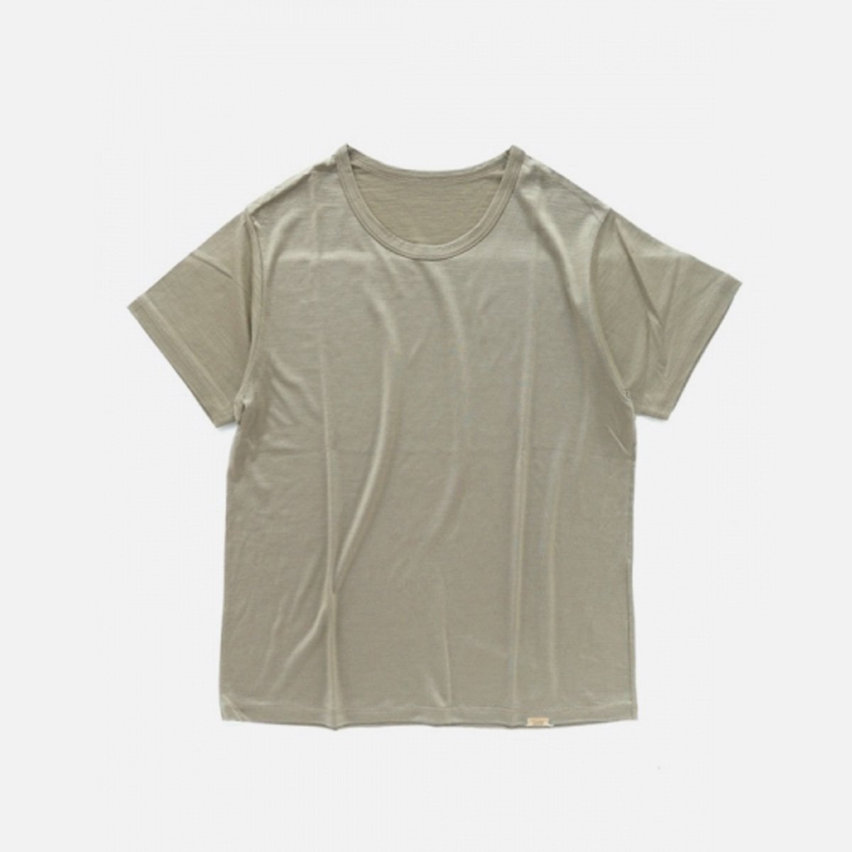 COLINA Super120s Washable Wool Tee  (Sepia)