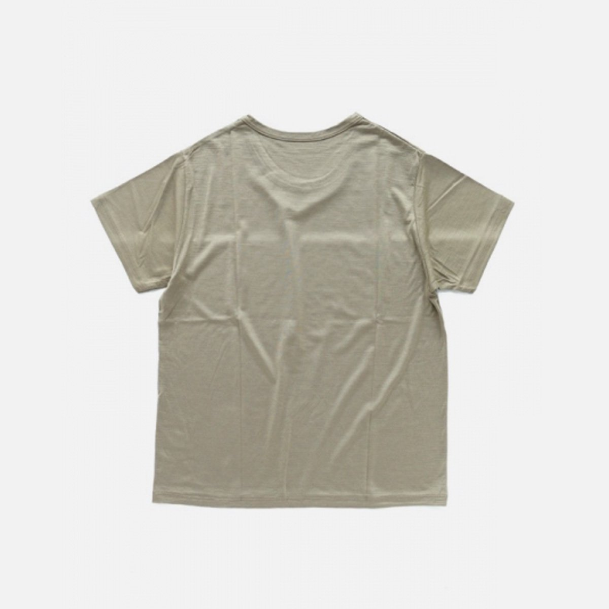COLINA Super120s Washable Wool Tee  (Sepia)2
