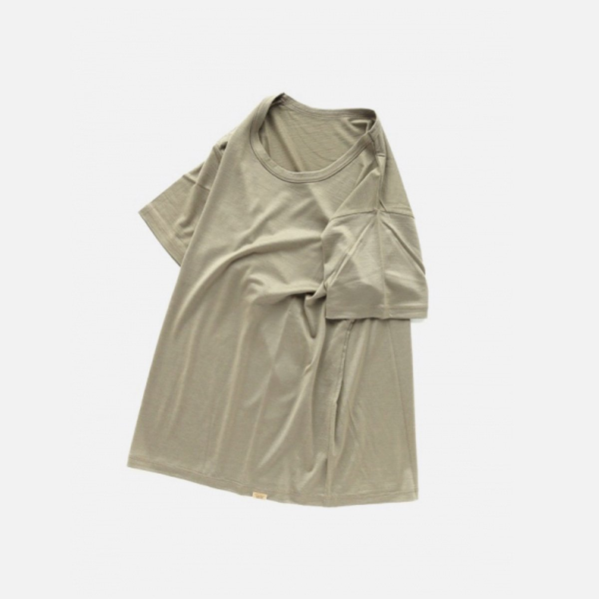 COLINA Super120s Washable Wool Tee  (Sepia)3