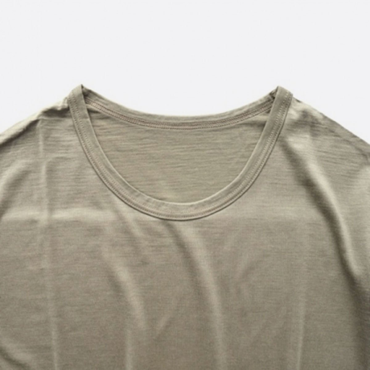 COLINA Super120s Washable Wool Tee  (Sepia)4