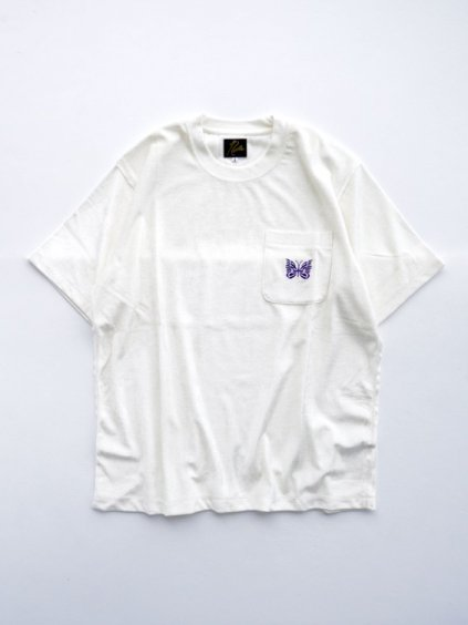 NEEDLES  S/S Papillon PK Tee - VELOUR  (white)