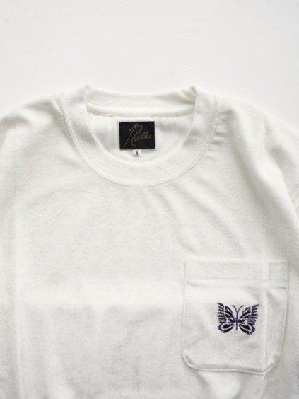 NEEDLES  S/S Papillon PK Tee - VELOUR  (white)2