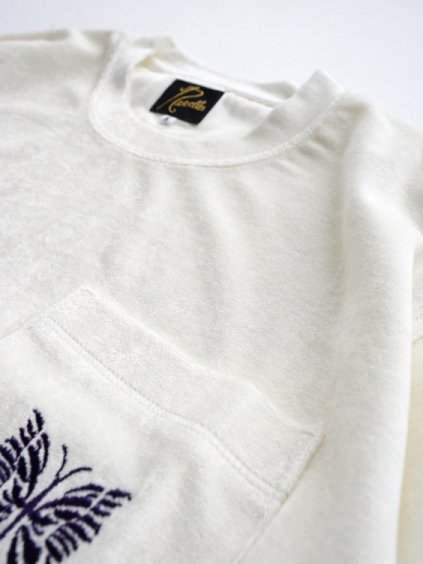 NEEDLES  S/S Papillon PK Tee - VELOUR  (white)3