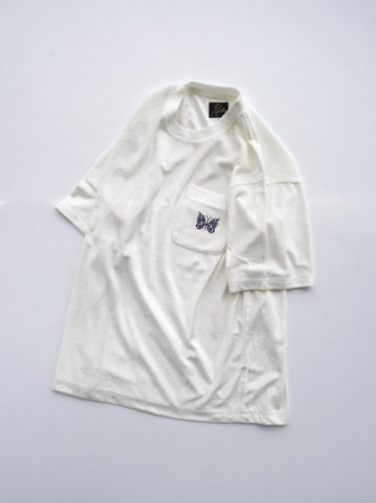 NEEDLES  S/S Papillon PK Tee - VELOUR  (white)4
