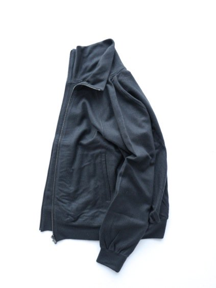 COLINA Super100s washable wool trackjacket  (Charcoal)3
