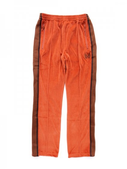 NEEDLES  NARROW TRACK PANT - C/PE VELOUR  (BRICK)
