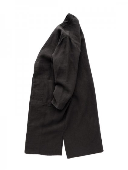 NO CONTROL AIR NYLON COVERING HIGH TWISTED LINEN COAT  (black)3