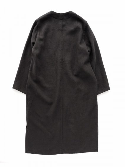 NO CONTROL AIR NYLON COVERING HIGH TWISTED LINEN COAT  (black)4