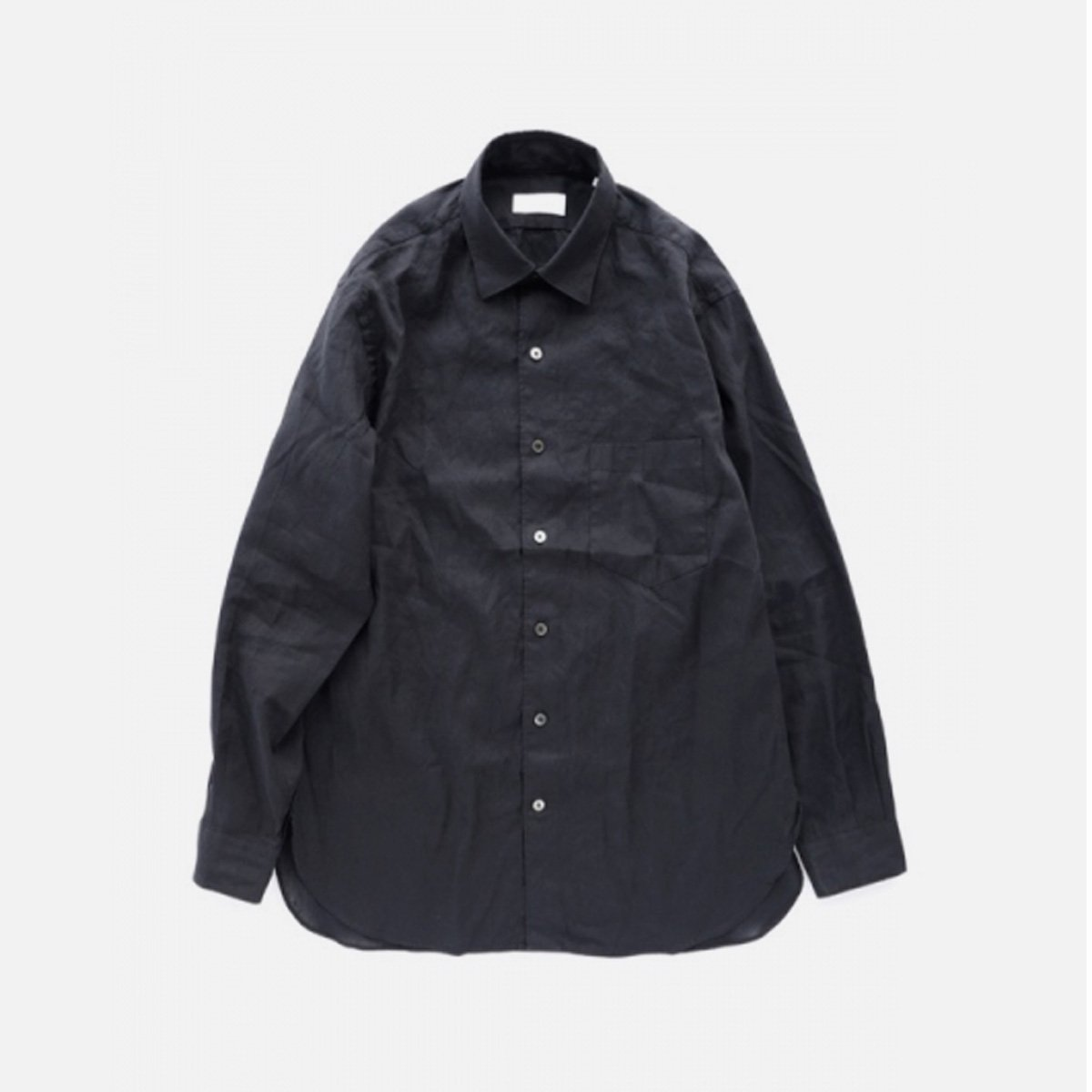 Phlannel American Sea Island Linen Anonymous Shirt  (Dark Navy)